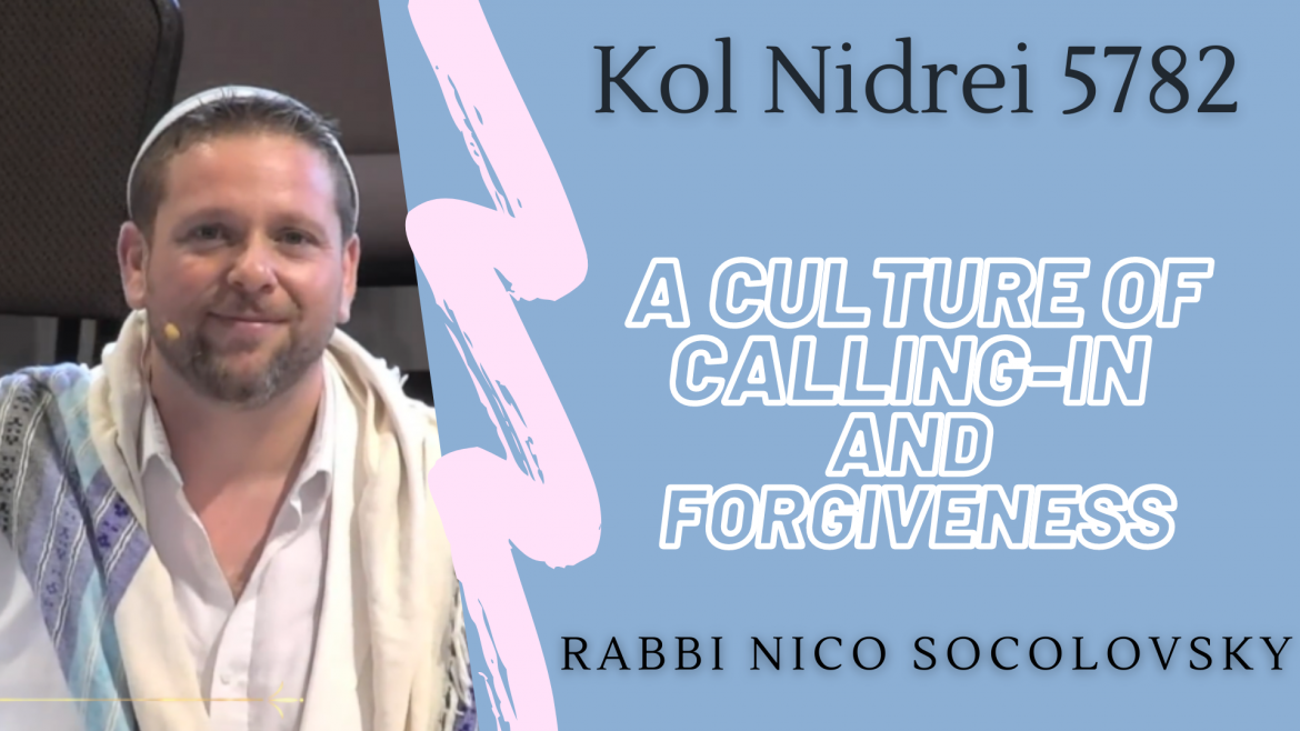 A Culture of Calling-In and Forgiveness